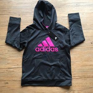 NWT Adidas Black and Pink Hoodie